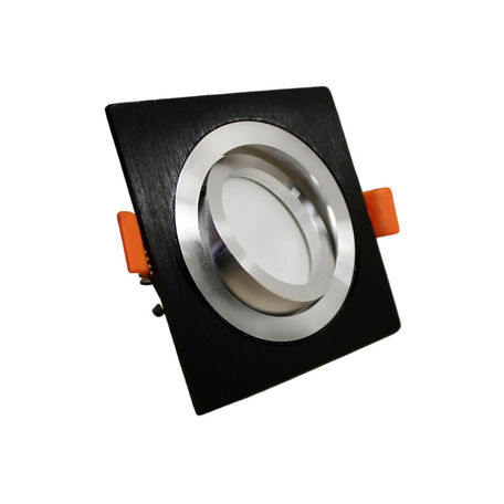 Встраиваемый светильник Lumina Deco Luka LDC 8062-JP-L90*W90 BK+SL, 1xGU10x35W, черный, металл