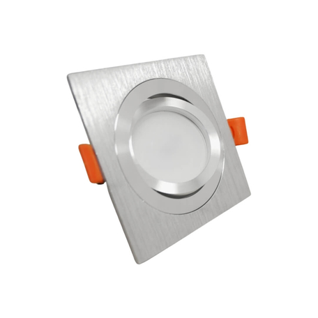 Встраиваемый светильник Lumina Deco Luka LDC 8062-JP-L90*W90 SL, 1xGU10x35W, серебро, металл