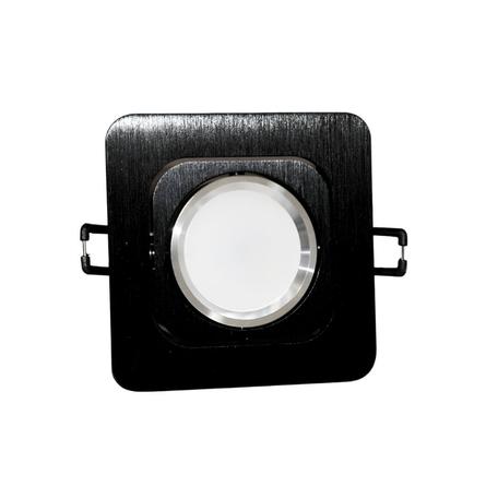 Встраиваемый светильник Lumina Deco Moka LDC 8063-SS-L98*W98 BK+SL, 1xGU10x35W, черный, металл