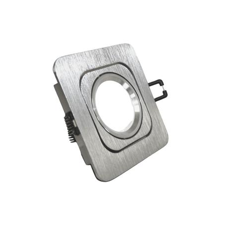 Встраиваемый светильник Lumina Deco Moka LDC 8063-SS-L98*W98 SL, 1xGU10x35W, серебро, металл