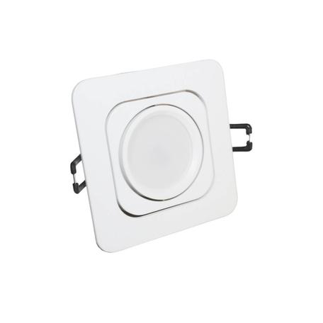Встраиваемый светильник Lumina Deco Moka LDC 8063-SS-L98*W98 WT, 1xGU10x35W, белый, металл