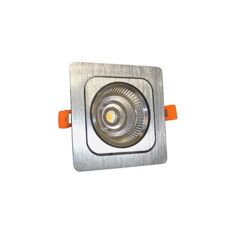 Встраиваемый светодиодный светильник Lumina Deco Fostis LDC 8064-SS-7WCOB-L98*W98 SL, LED 7W 4000K, серебро, металл