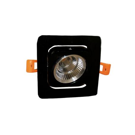 Встраиваемый светодиодный светильник Lumina Deco Fostis LDC 8064-SS-7WCOB-L98*W98 SL+BK, LED 7W 4000K, черный, металл