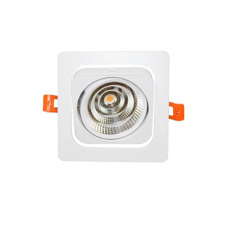 Встраиваемый светодиодный светильник Lumina Deco Fostis LDC 8064-SS-7WCOB-L98*W98 WT, LED 7W 4000K, белый, металл