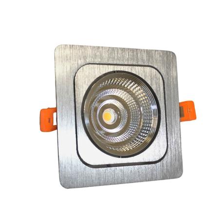 Встраиваемый светодиодный светильник Lumina Deco Fostis LDC 8065-SS-10WCOB-L120*W120 SL, LED 10W 4000K, серебро, металл