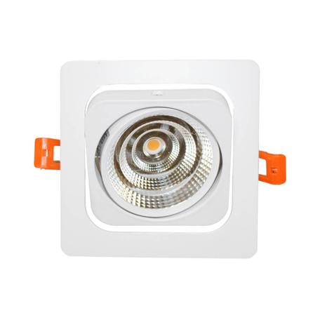 Встраиваемый светодиодный светильник Lumina Deco Fostis LDC 8065-SS-10WCOB-L120*W120 WT, LED 10W 4000K, белый, металл