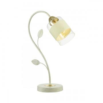 Настольная лампа Lumion Filla 3029/1T, 1xE27x60W, белый с золотой патиной, золото, белый, прозрачный, металл, стекло, текстиль