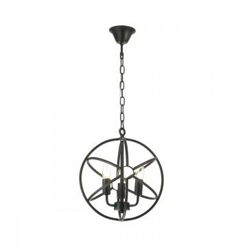 Подвесная люстра Lumion Valentin 3693/3, 3xE14x60W, черный, металл