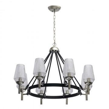 Подвесная люстра MW-Light Альгеро 285011408, серебро, черный, прозрачный, металл, стекло