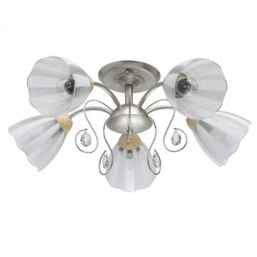 Потолочная люстра MW-Light Мечта 297013405, коричневый, серебро, белый, прозрачный, металл, стекло