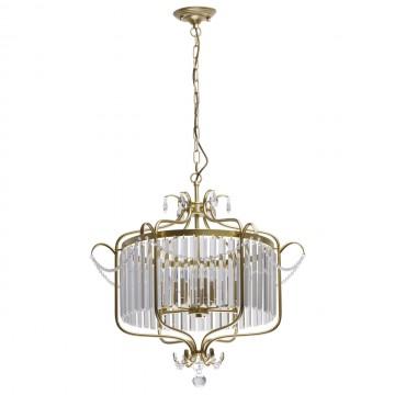Подвесная люстра MW-Light Адель 373014806, перламутровый, прозрачный, металл, хрусталь
