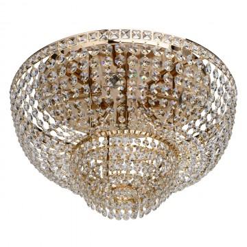 Потолочная люстра MW-Light Патриция 447011406, золото, прозрачный, металл, хрусталь