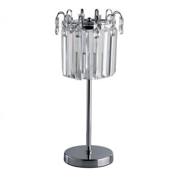 Настольная лампа MW-Light Аделард 642033101, 1xE27x60W, хром, прозрачный, металл, хрусталь