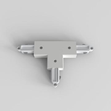 T-образный левый соединитель для шинопровода Astro Track 6020025 (2238), белый, пластик