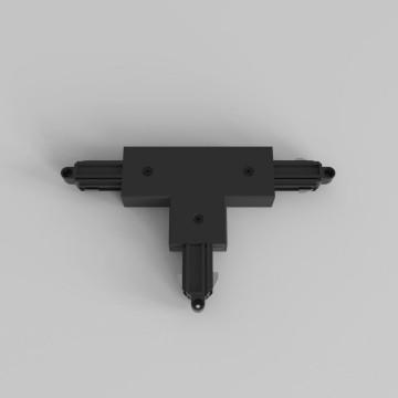 T-образный левый соединитель для шинопровода Astro Track 6020026 (2239), черный, пластик