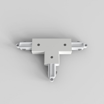 T-образный левый соединитель для шинопровода Astro Track 6020027 (2240), белый, пластик