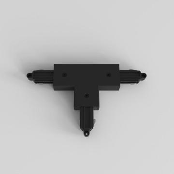 T-образный левый соединитель для шинопровода Astro Track 6020028 (2241), черный, пластик