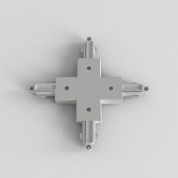 X-образный соединитель для шинопровода Astro Track 6020019 (2233), белый, пластик