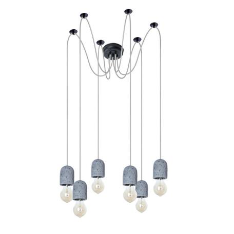 Люстра-паук Arte Lamp Bender A4321SP-6GY, 6xE27x60W, серый, металл, бетон