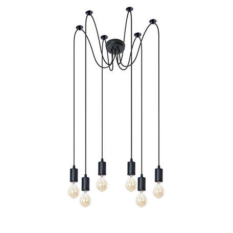 Люстра-паук Arte Lamp Bender A4322SP-6BK, 6xE27x60W, черный, металл