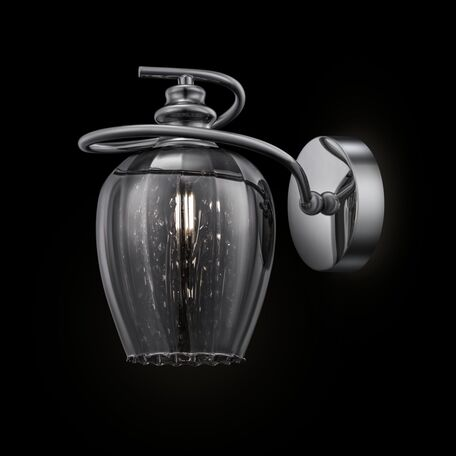 Бра Maytoni Blues MOD033-WL-01-N (f003-01-n), 1xE14x40W, никель, дымчатый, прозрачный, металл, стекло, хрусталь