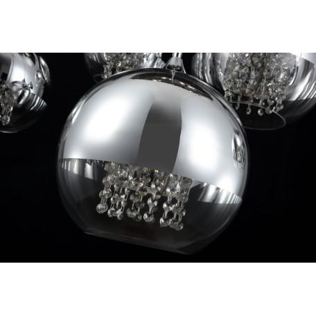 Люстра-каскад Maytoni Fermi P140-PL-170-5-N (F140-05-N), 5xE27x60W, никель, хром с прозрачным, прозрачный с хромом, прозрачный, металл, стекло - миниатюра 7