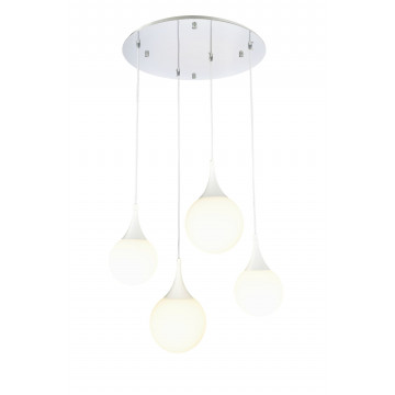 Люстра-каскад Maytoni Dewdrop P225-PL-150-N (mod225-04-n), 4xE27x8W, белый, металл, стекло