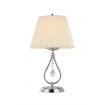 Настольная лампа Maytoni Talia MOD334-TL-01-N (arm334-11-n), 1xE14x40W, никель, белый, прозрачный, металл, текстиль