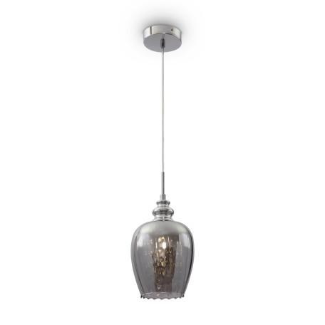 Подвесной светильник Maytoni Blues MOD033-PL-01-N (f003-11-n), 1xE14x40W, никель, дымчатый, прозрачный, металл, стекло, хрусталь