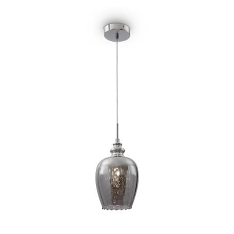 Подвесной светильник Maytoni Blues MOD033-PL-01-N (F003-11-N), 1xE14x40W, никель, дымчатый, прозрачный, металл, стекло, хрусталь - миниатюра 2