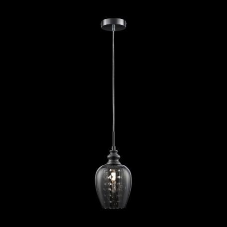 Подвесной светильник Maytoni Blues MOD033-PL-01-N (F003-11-N), 1xE14x40W, никель, дымчатый, прозрачный, металл, стекло, хрусталь - миниатюра 3