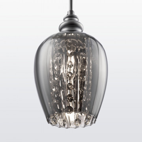 Подвесной светильник Maytoni Blues MOD033-PL-01-N (F003-11-N), 1xE14x40W, никель, дымчатый, прозрачный, металл, стекло, хрусталь - миниатюра 5