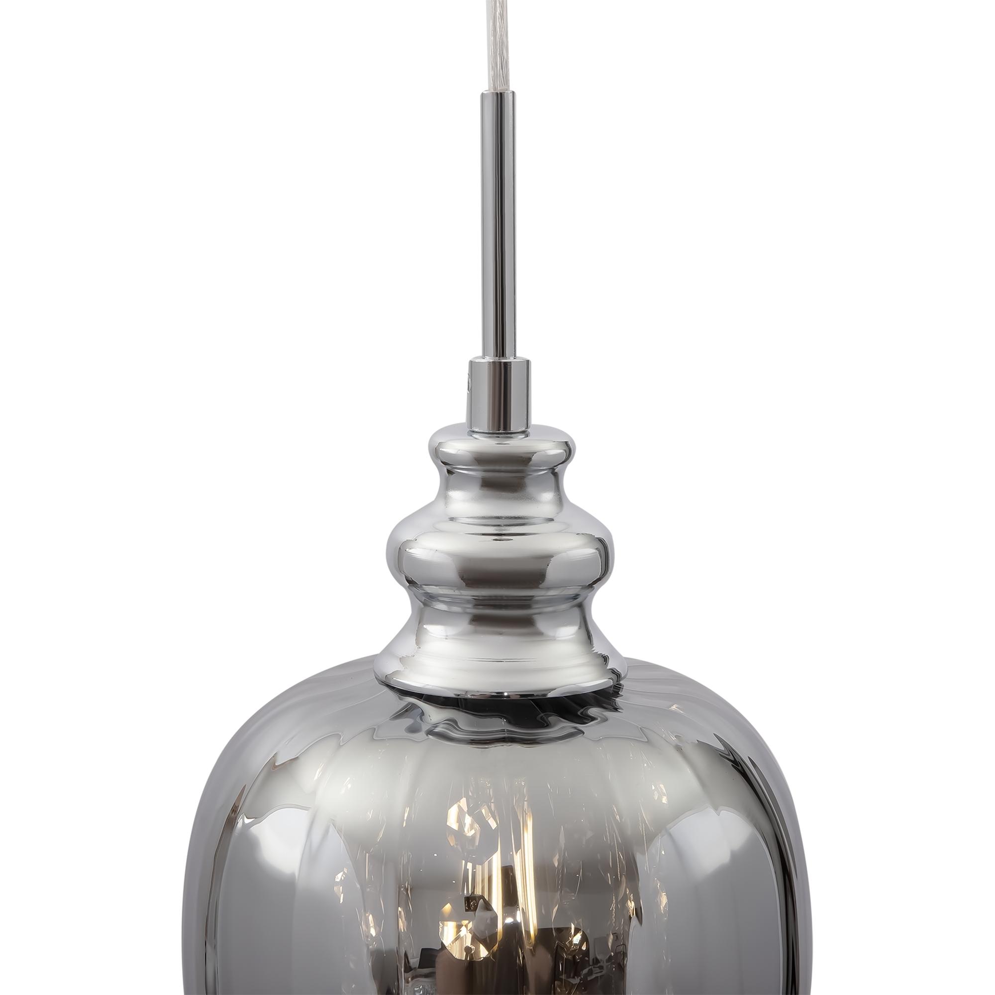 Подвесной светильник Maytoni Blues MOD033-PL-01-N (F003-11-N), 1xE14x40W, никель, дымчатый, прозрачный, металл, стекло, хрусталь - фото 5