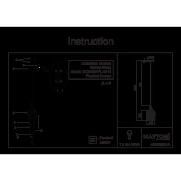 Схема с размерами Maytoni MOD033-PL-01-N