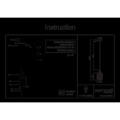 Подвесной светильник Maytoni Blues MOD033-PL-01-N (F003-11-N), 1xE14x40W, никель, дымчатый, прозрачный, металл, стекло, хрусталь - миниатюра 6