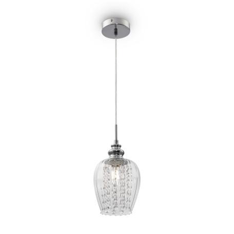 Подвесной светильник Maytoni Blues MOD044-PL-01-N (f004-11-n), 1xE14x40W, никель, прозрачный, металл, стекло, хрусталь