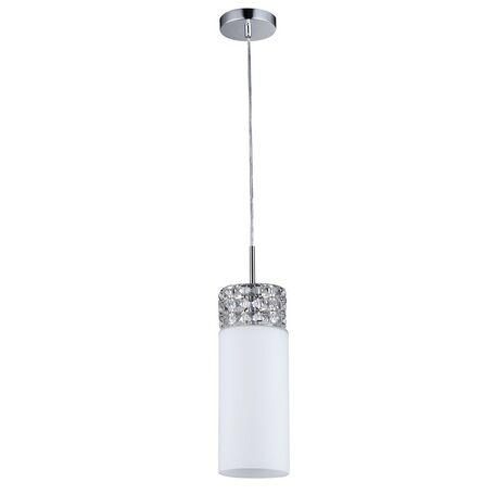 Подвесной светильник Maytoni Collana P077-PL-01-N (f007-11-n), 1xE14x40W, никель, белый, металл, стекло