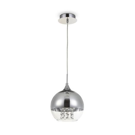 Подвесной светильник Maytoni Fermi P140-PL-110-1-N (F140-11-N), 1xE27x60W, никель, хром с прозрачным, прозрачный с хромом, прозрачный, металл, стекло