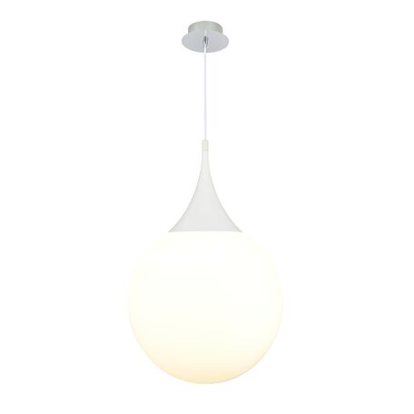 Подвесной светильник Maytoni Dewdrop P225-PL-400-N (mod225-40-n), 1xE27x8W, белый, металл, стекло - миниатюра 1