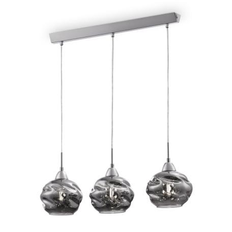 Подвесной светильник Maytoni Modern Haze P244-PL-03-N (MOD244-03-N), 3xE14x40W, никель, дымчатый, прозрачный, металл, стекло
