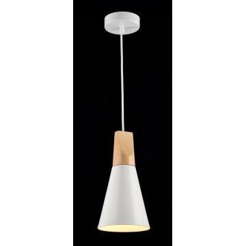 Подвесной светильник Maytoni Modern Bicones P359-PL-140-W (mod359-11-w), 1xE27x60W, белый, коричневый, металл с деревом, металл - миниатюра 3