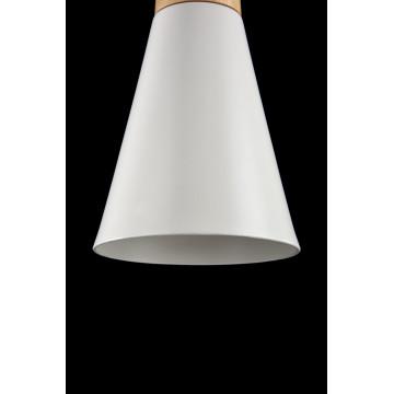 Подвесной светильник Maytoni Modern Bicones P359-PL-140-W (mod359-11-w), 1xE27x60W, белый, коричневый, металл с деревом, металл - миниатюра 6