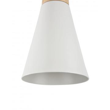 Подвесной светильник Maytoni Modern Bicones P359-PL-140-W (mod359-11-w), 1xE27x60W, белый, коричневый, металл с деревом, металл - миниатюра 8