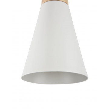 Подвесной светильник Maytoni Bicones P359-PL-140-W (mod359-11-w), 1xE27x60W, белый, коричневый, дерево, металл - миниатюра 8