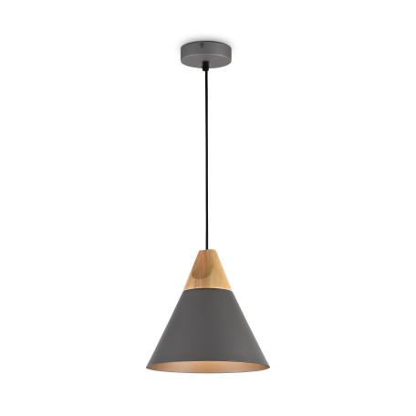 Подвесной светильник Maytoni Bicones P359-PL-220-C (mod359-01-c), 1xE27x60W, черный, дерево, металл