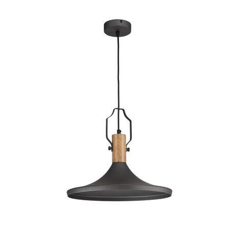 Подвесной светильник Maytoni Bicones P359-PL-350-C (mod359-00-c), 1xE27x60W, коричневый, черный, металл, дерево
