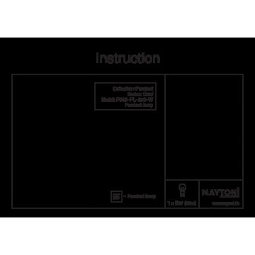 Схема с размерами Maytoni P360-PL-250-W