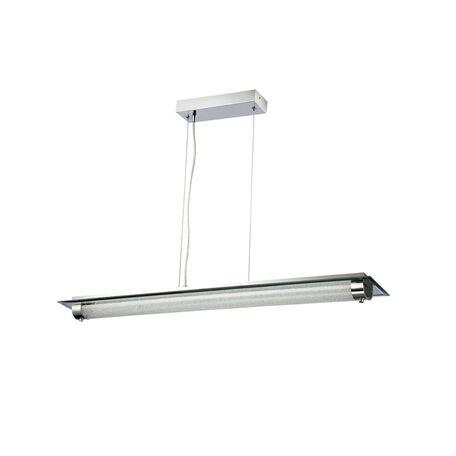 Подвесной светодиодный светильник Maytoni Plasma P444-PL-01-26W-N (mod444-22-n), LED 26W 4000K 1820lm CRI80, зеркальный, никель, прозрачный, металл со стеклом, стекло