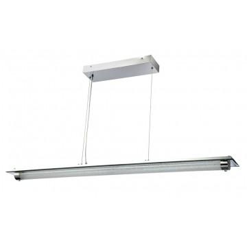 Подвесной светильник Maytoni Plasma P444-PL-01-36W-N (mod444-02-n) 4000K (дневной), зеркальный, никель, прозрачный, металл, стекло