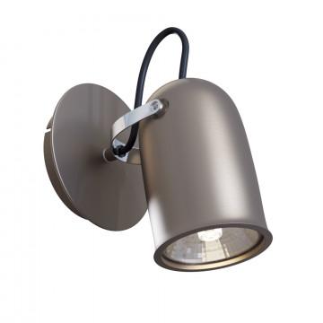 Настенный светильник с регулировкой направления света Maytoni Technical Alcor SP311-CW-01-N (ECO311-01-N), 1xGU10x50W, никель, металл